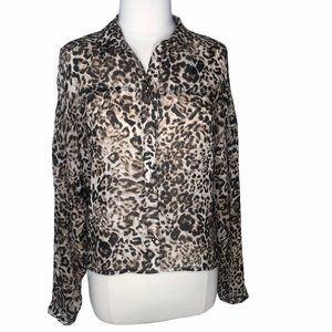 Charlotte Russe blouse shirt top cropped button M